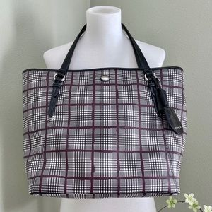 Coach Plaid Tote Bag